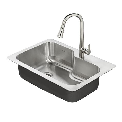 Stainless Steel Kitchen Sink by American Standard Raleigh 33 In X 22 In Stainless Steel