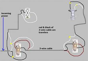 3 way switch to always hot receptacle wiring trouble With wiring 3 way switch