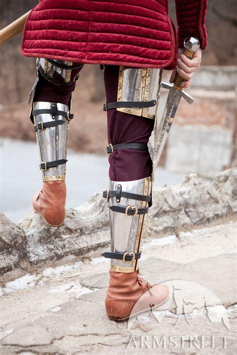 medieval western leg armor  kings guard