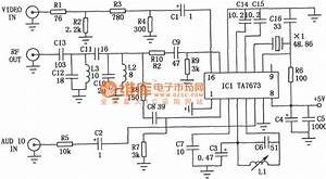 Rf Modulator Circuit Composed Of Ta7673