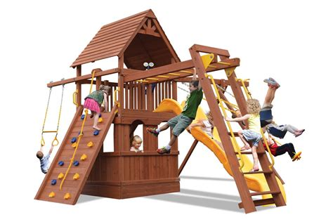 Swing Sets For Sale by Let S Play Playsets Wooden Swing Sets For Sale