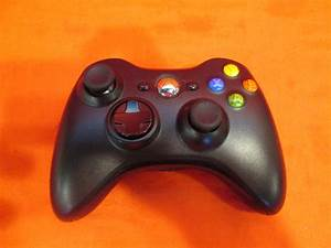 Wireless Controller Glossy Black For Xbox 360 Modded