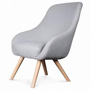 Fauteuil Design Scandinave : fauteuil design scandinave tissu gris flanelle egg ~ Melissatoandfro.com Idées de Décoration