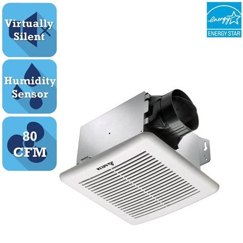 humidity sensing bathroom fan reviews delta breez greenbuilder g2 series 80 cfm ceiling bathroom