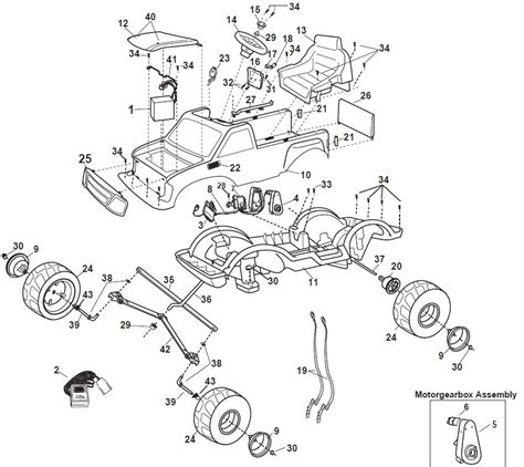 2005 Ford Mustang Part Diagram by Power Wheels Ford Flashback 4x4 Parts