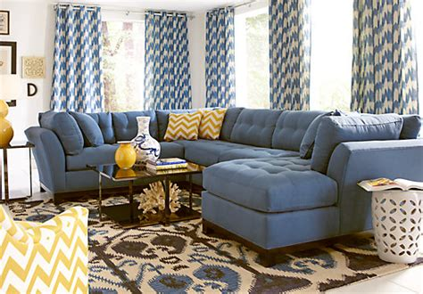Metropolis 3pc Sectional Sofa by Metropolis Indigo 3pc Sectional Living