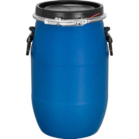 gallon blue plastic drum  cary company