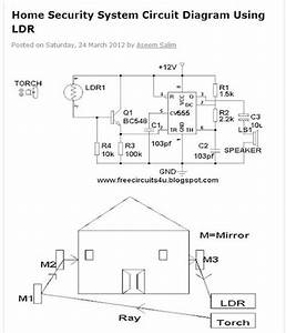 Mechanical Information  Home Security System Circuit Diagram