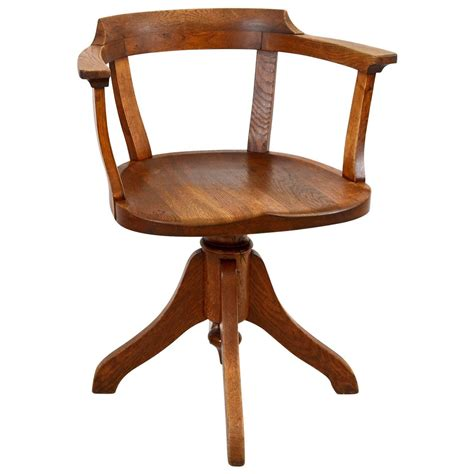 oak swedish swivel post office chair for sale at 1stdibs