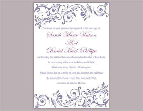 diy wedding invitation template editable text word file