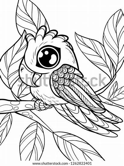 Coloring Animals Children Vector Animal Pages Shutterstock