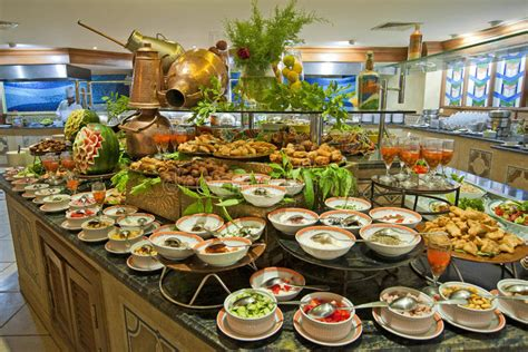 buffet bar cuisine salad buffet in a luxury hotel restaurant stock image