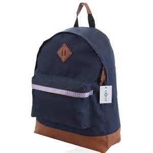 designer rucksack mens boys retro designer backpack rucksack school college travel work