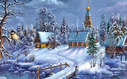 Christmas Animated Scenes Scene Wallpapers9 Winter Night
