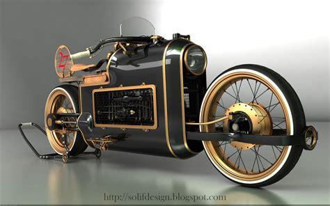 Steampunk Motorcycle : Black Widow Steampunk Chopper