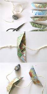 Upcycling Ideen Papier : papierboot girlande aus atlasseiten upcycling ideen mr papier basteln und girlanden ~ Eleganceandgraceweddings.com Haus und Dekorationen
