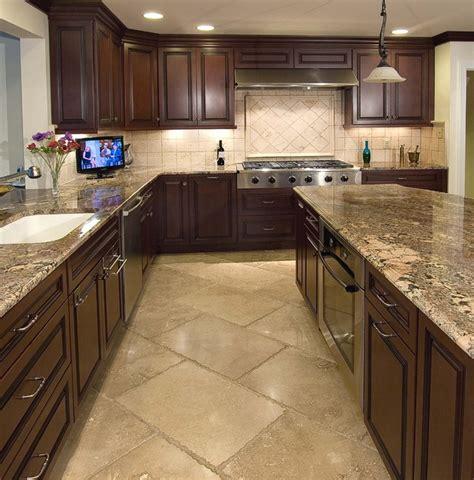 kitchen floor ideas with dark cabinets kitchens and backsplashes