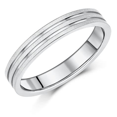 4mm titanium ring multi grooved wedding ring band titanium rings at elma uk jewellery