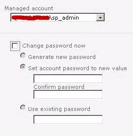 sharepoint enterprise - Changing password through CA for ...