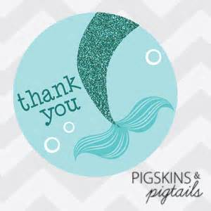 party favor bags mermaid thank you tags 1 75 inches pigskins pigtails