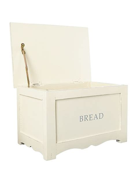 Shabby Chic Distressed White Bread Bin House Of Fraser