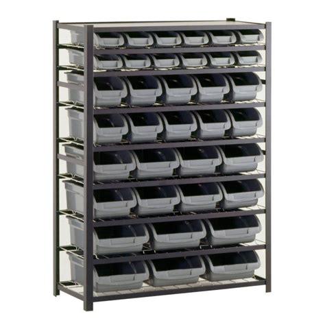 industrial storage cabinets with bins sandusky 36 bin 57 in h x 44 in w x 16 in d black