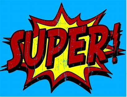 Superhero Super Clipart Words Hero Clip Phrases