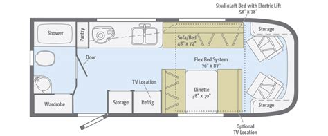 viva floorplans winnebago rvs