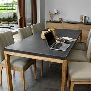 Solde Table A Manger : table de salle manger uleg ch ne massif b ton ~ Teatrodelosmanantiales.com Idées de Décoration