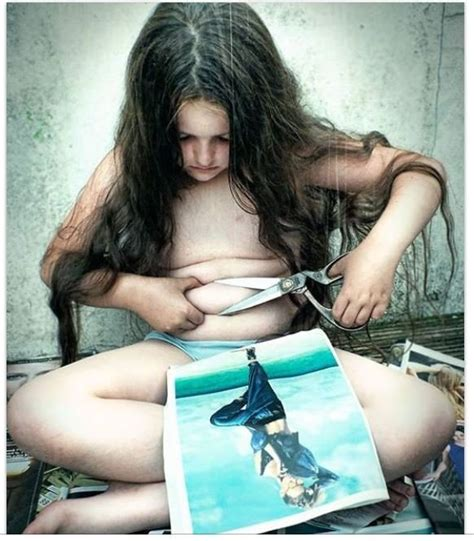 Why This Photo Of A Daughter Cutting Off Her Fat Is So