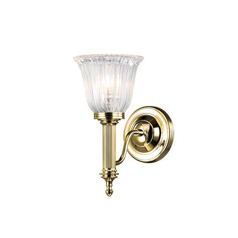 aubrey bathroom 1lt wall light in polished brass