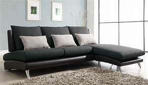 Homelegance codman reversible sectional sofa chaise dark for Black microfiber small sectional sofa with reversible chaise ottoman