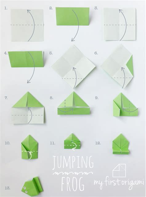 easy origami jumping frog   origami