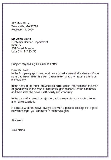What Is The Format Of An Application Letter by Letter Formats Mla Business Letter Format Template Edu