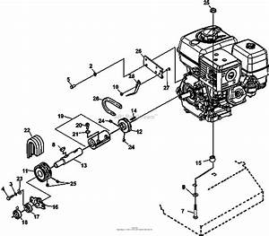 Bunton  Bobcat  Ryan 544283d Mataway Parts Diagram For Engine And Drive Assembly