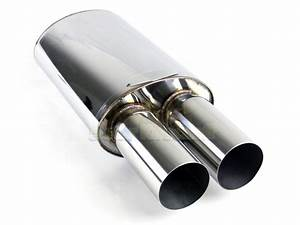 Tracks Style For Bimmer  1x Sport Race Oval Exhaust