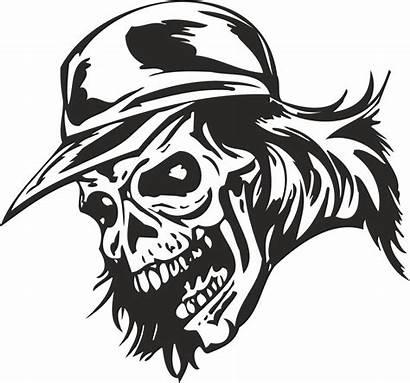 Skull Zombie Vector Sticker Cap Clip Skulls
