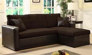 Sectional sofa bed with storage groupon goods for Sectional sofa groupon
