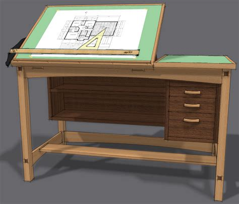 drafting tables free drafting table plans woodworking