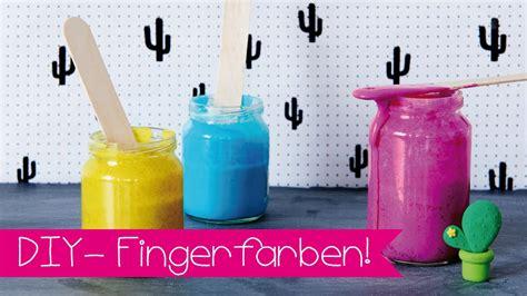 diy fingerfarbe  basteln mit kindern youtube