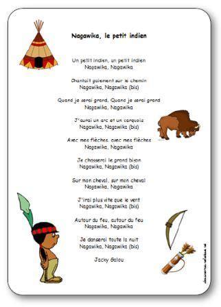 chanson nagawika le petit indien de jacky galou paroles illustr 233 es 224 imprimer