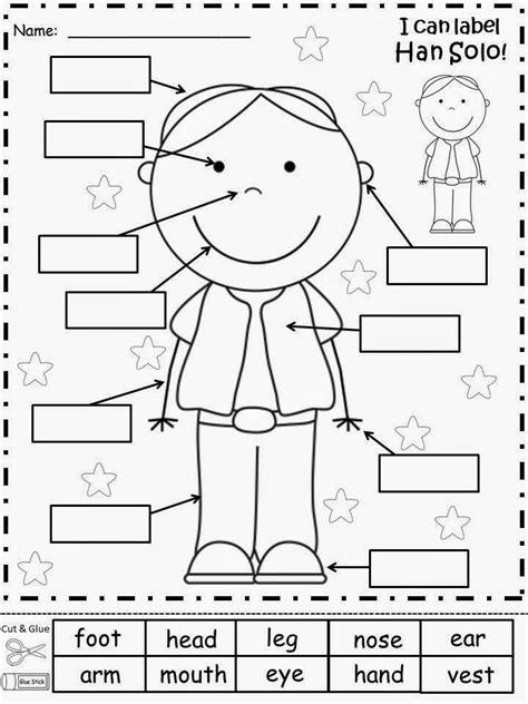 body part activities for preschoolers free han labels your students label han 193