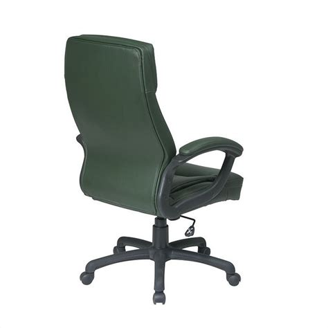executive high back green leather office chair ec6583 ec16