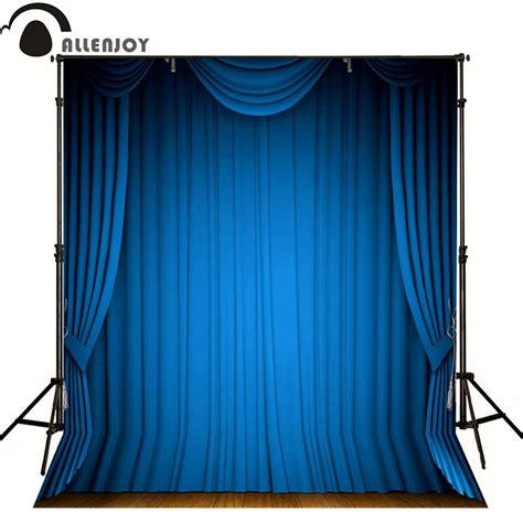 get cheap blue stage curtains aliexpress