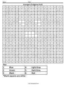 batman color  number  time mouse color math coloring worksheets color  number printable