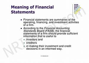 financial statement analysis With financial documents definition