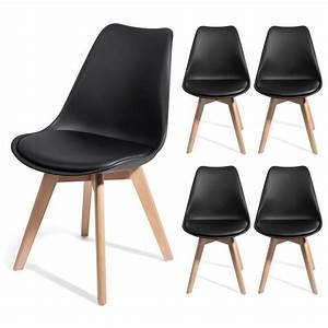 Chaise Design Contemporain : 4 chaises brekka design contemporain nordique scandinave ~ Nature-et-papiers.com Idées de Décoration