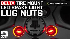 Jeep Wrangler Delta Tire Mount Led 3rd Brake Light Lug Nuts  1987