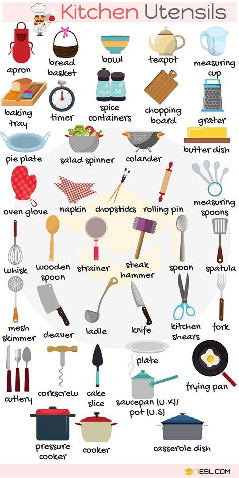 Kitchen Vocabulary by Kitchen Utensils Vocabulary In Kitchen