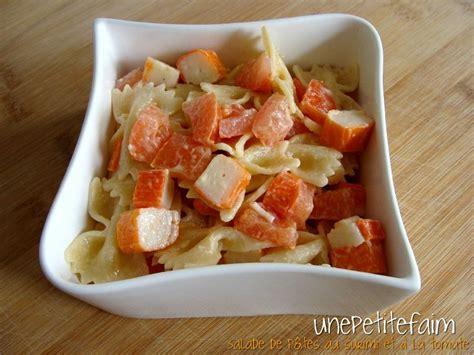 recette salade de pates au surimi salade pate surimi tomate 28 images salade de p 226 tes au surimi et 224 la tomate une faim